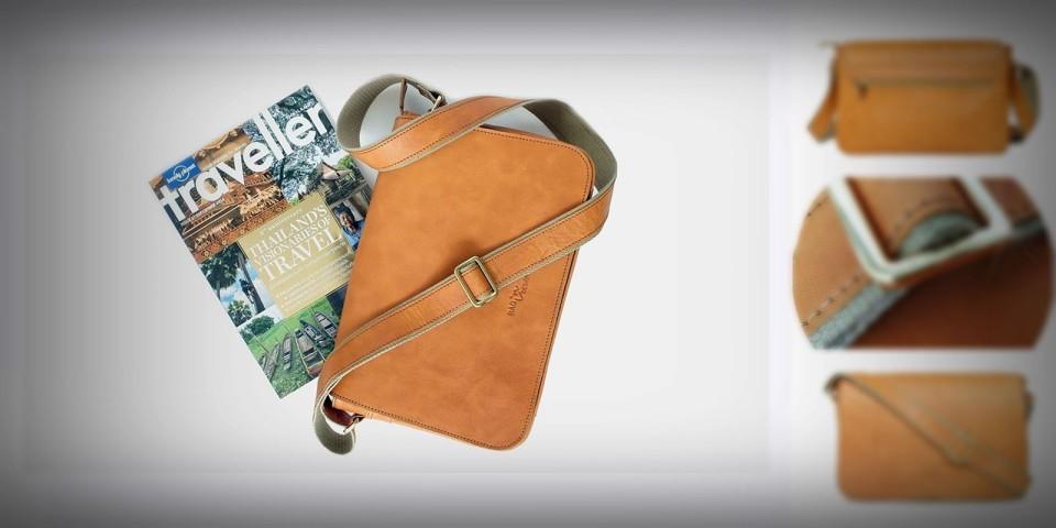 กระเป๋าหนังแท้ Messenger bag