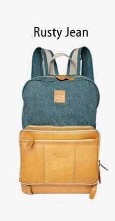 กระเป๋าเป้เดินทาง หนังแท้ Jean Wash Rusty
