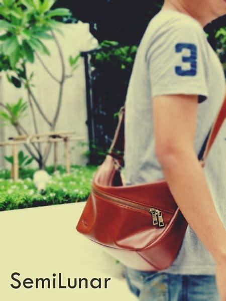 กระเป๋าหนังแท้ พาดลำตัว ท่องเที่ยวและลำลอง