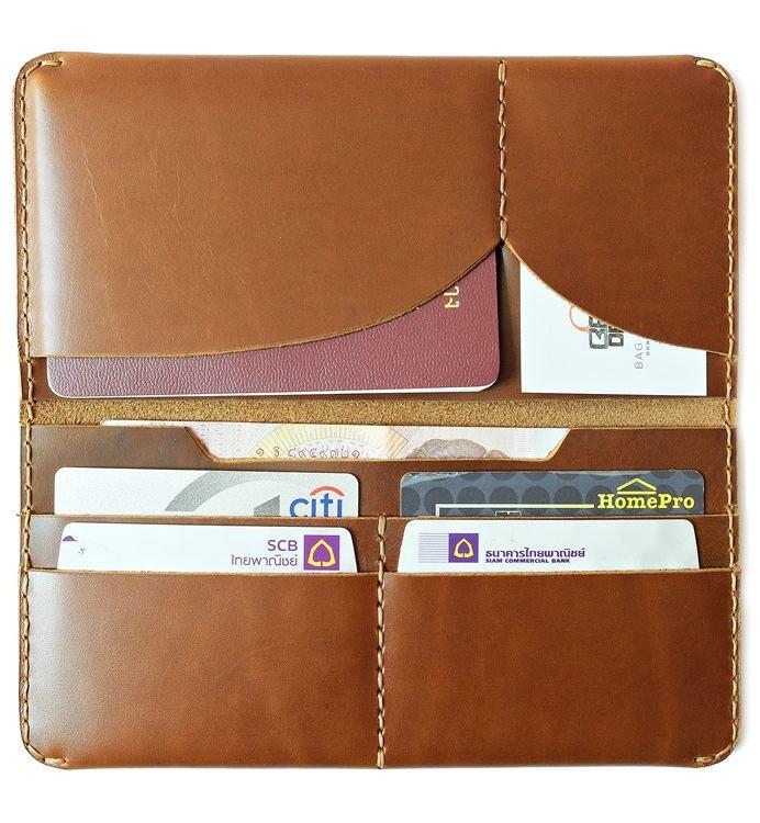 กระเป๋าหนังแท้ Passport wallet
