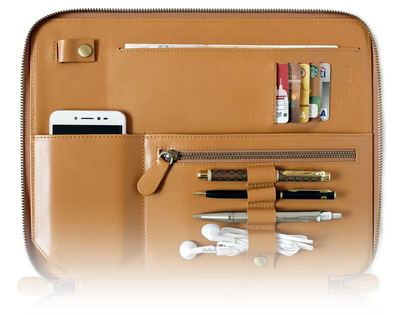 กระเป๋าหนัง Tech.folio leather option และรูปแบบการใช้งาน