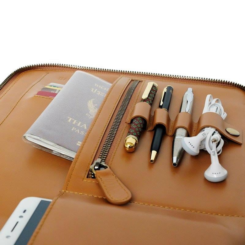กระเป๋าหนังแท้ folio leather