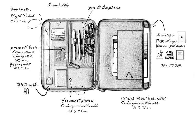 กระเป๋าหนังแท้ tech. folio leather ราคา