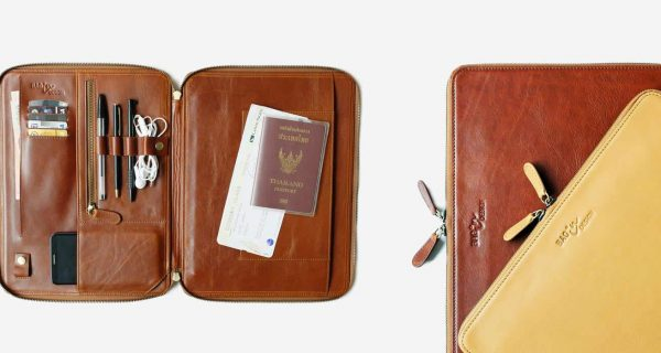 กระเป๋าหนังแท้ Folio