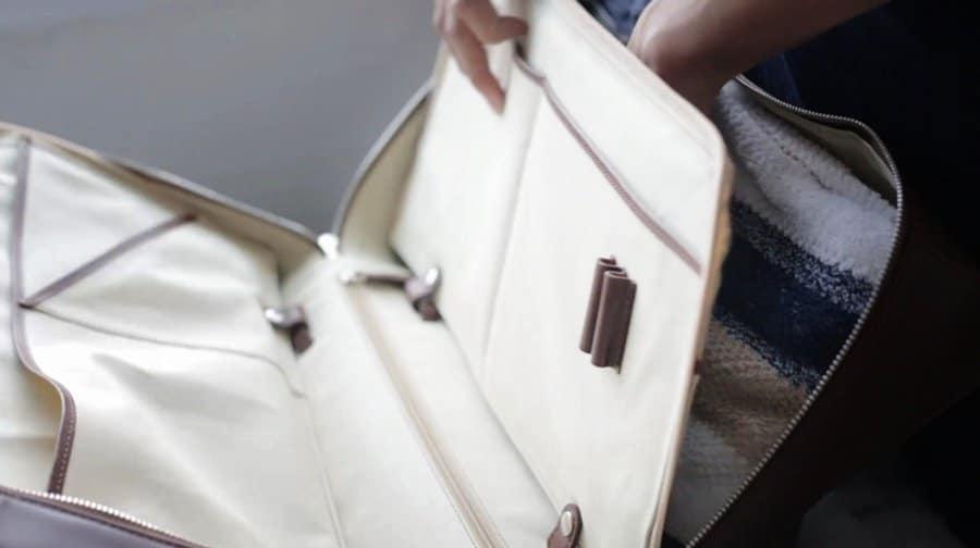 กระเป๋าเดินทาง หนังแท้