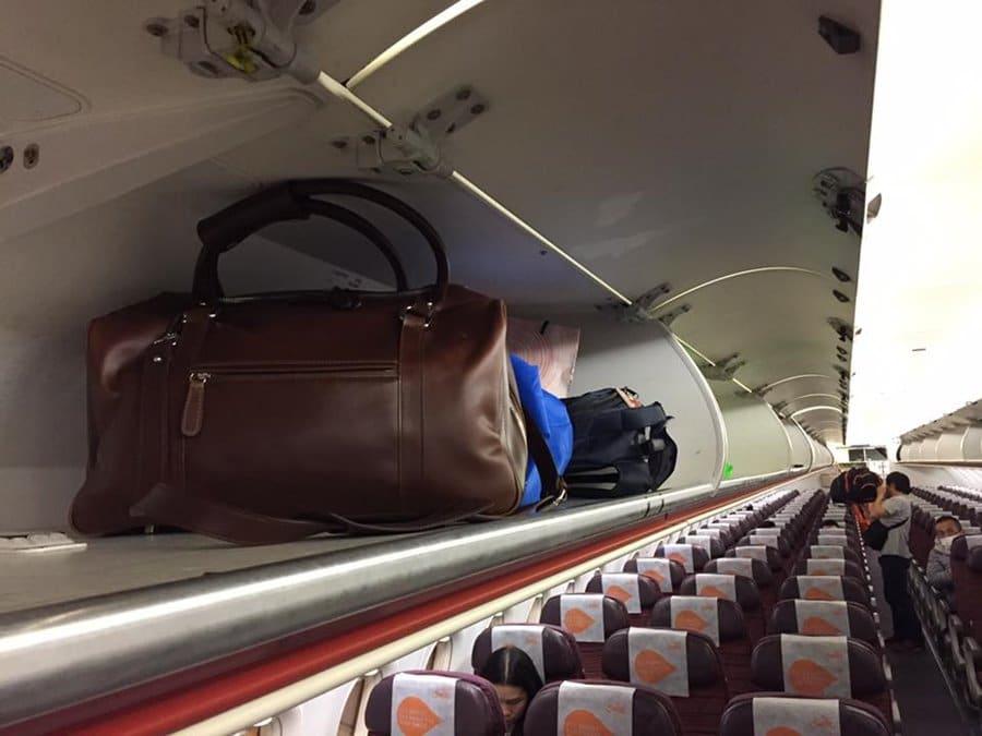 กระเป๋าเดินทาง หนังแท้ Cabin size bag