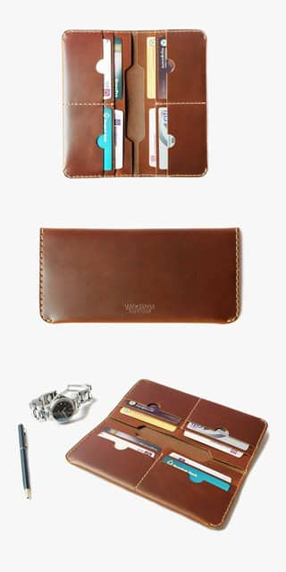 Smart wallet leather