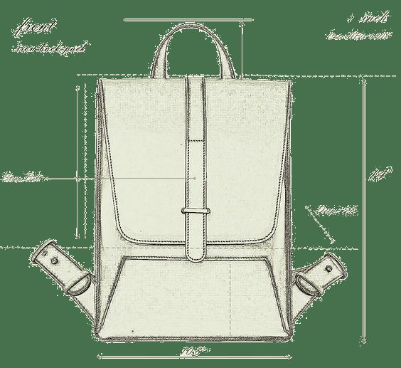 การออกแบบ กระเป๋าเป้ แฟชั่น iron