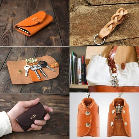 Keychain Gift idea premium leather