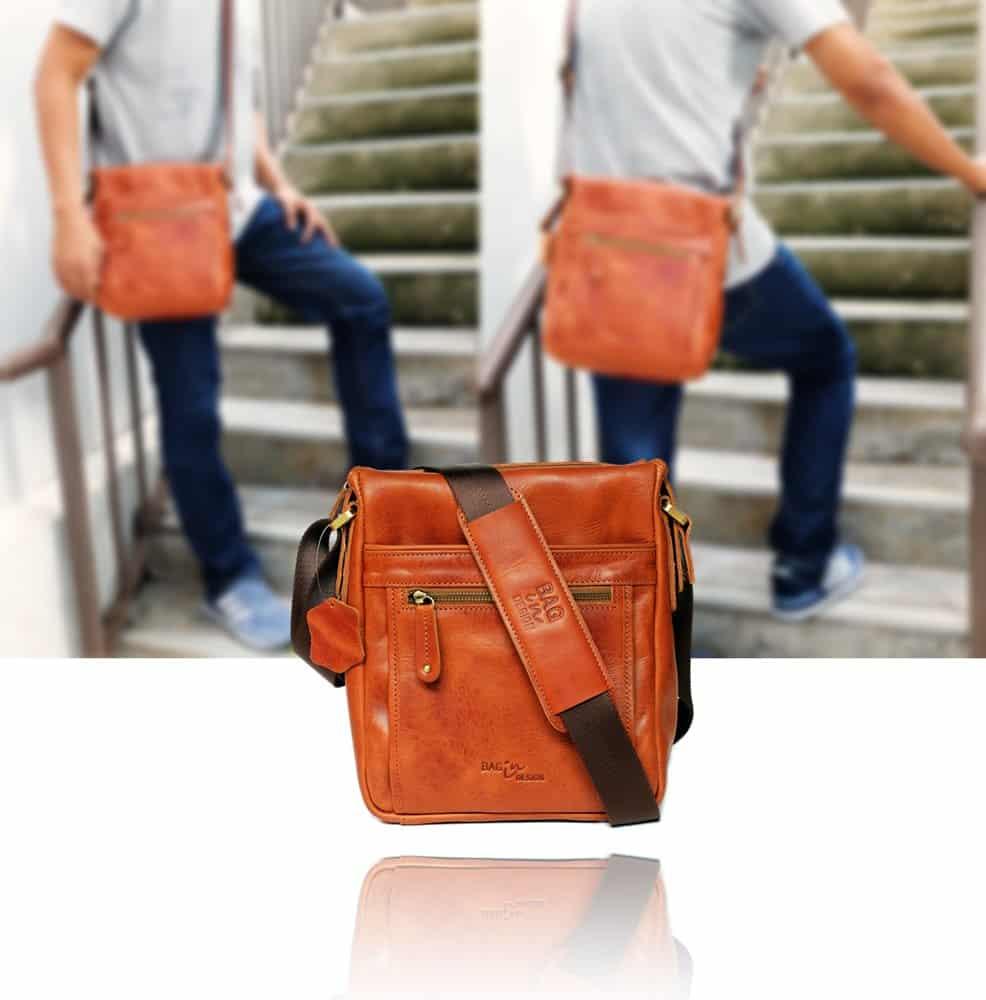 กระเป๋าหนังแท้ รุ่น admin ver ผู้ชาย