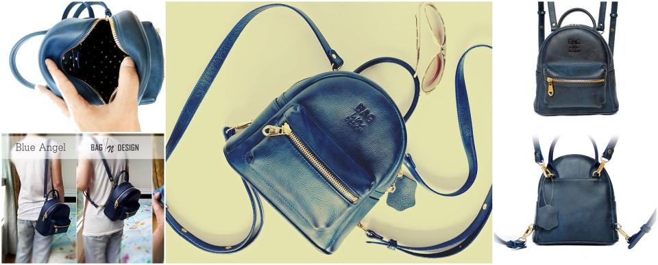 กระเป๋าเป้ สีน้ำเงิน ใบเล็ก