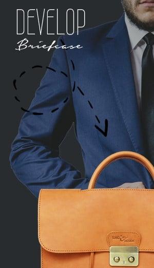 กระเป๋าผู้ชาย Briefcase bag leather