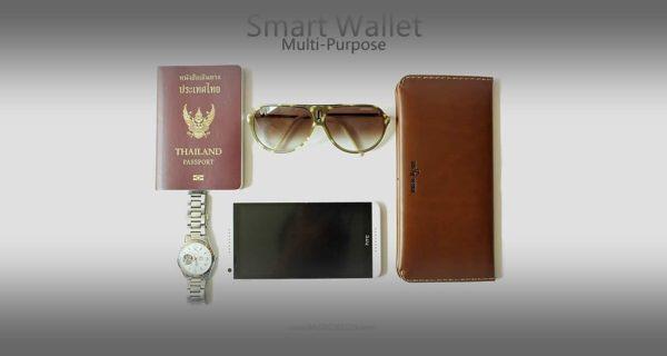 wallet สำหรับใส่ Passport book หนังแท้