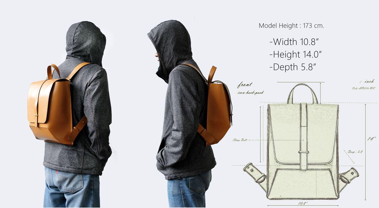 ในภาพอาจจะมี ผู้ชาย, กระเป๋าเป้, กระเป๋าหนังแท้, กระเป๋าสะพายหลัง