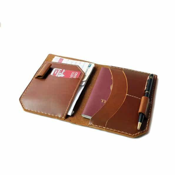 passport holder cover leather