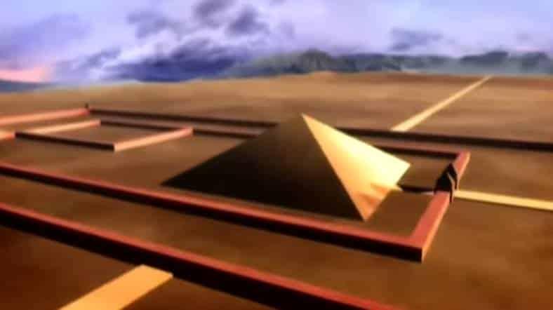ใจกลางของมหาสุสานทั้งหมด มีลักษณะเป็นปิระมิด