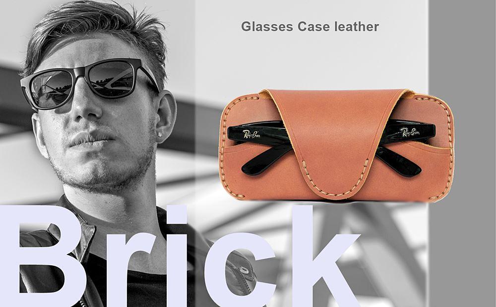 กล่องแว่นตา คาดเอว หนังแท้ Brick