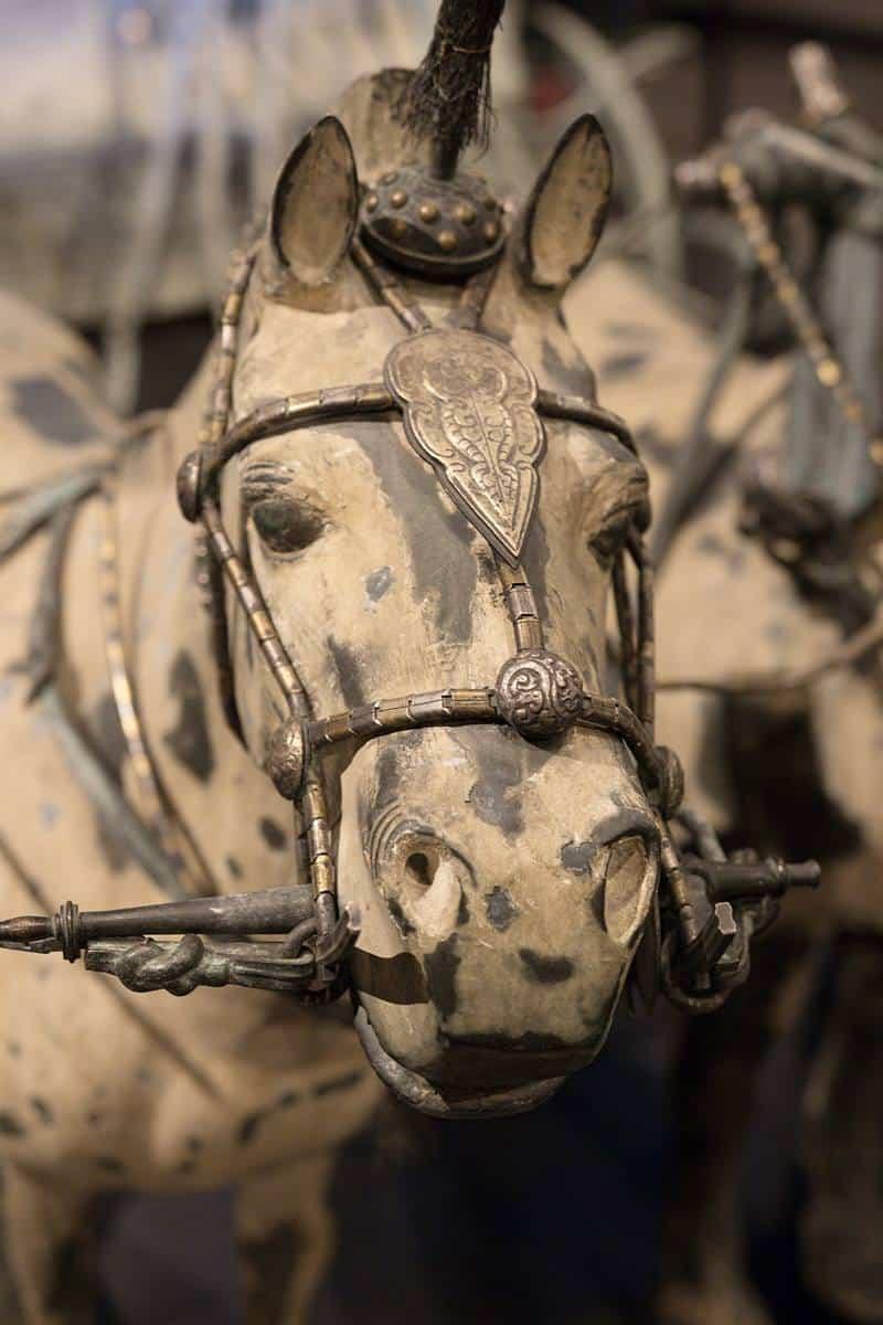 โบราณวัตถุ ราชรถม้า สำริด จีน